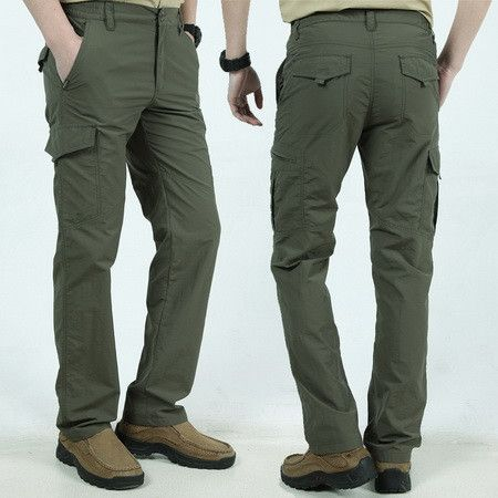 LILL   Embroide Quick Dry Casual Pants Men Summer Army Military Style Trousers Mens Tactical Cargo Pants Male Sweatpants