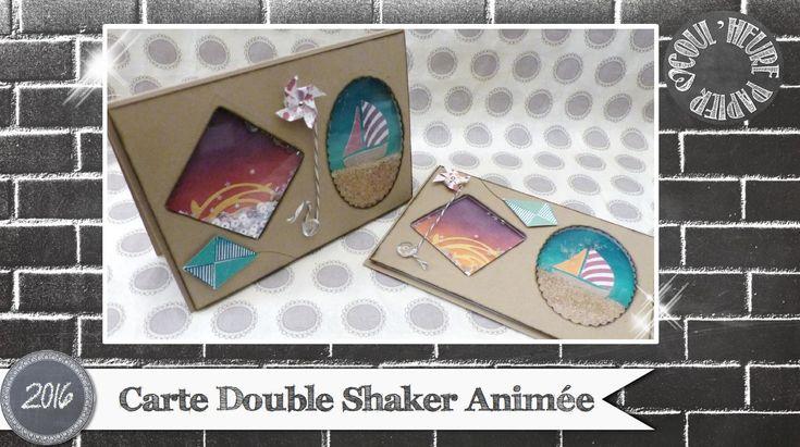 """Carte animée double shaker """"Vacances au bord de Mer vidéo"""