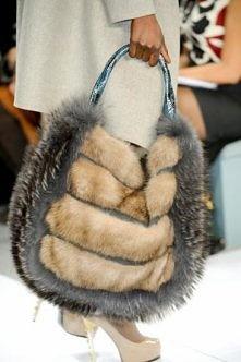 interesting fur bag