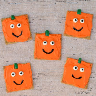 Spookely the Square Pumpkin Inspired Pumpkin Snacks
