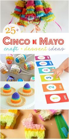 25+ Cinco de Mayo food crafts decor party ideas! Lots of fun ideas to throw a fun Cinco de Mayo party or fun fiesta ideas!: