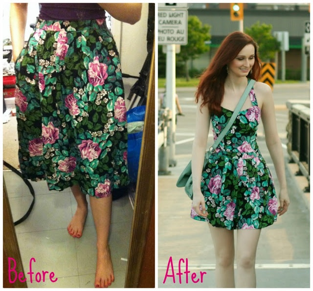 Skirt to dress refashion Part 2