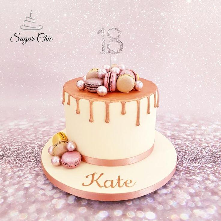 X Rose Gold Macaron Drip Cake X By Sugar Chic Cakes