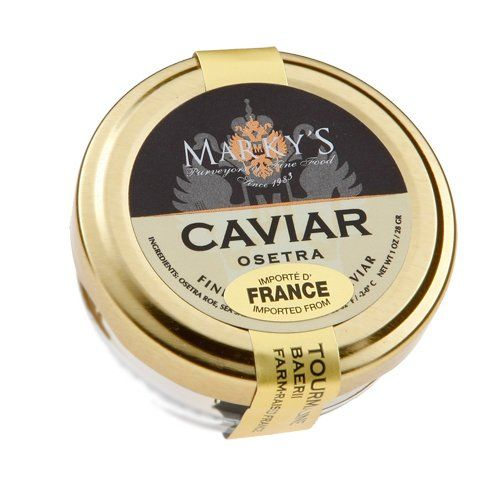 Best Quality & Premium Taste Fine Gourmet Foods for Someone Special Ideal Corporate & Holiday Gift Marky's Farmed Siberian Osetra Caviar, Baerri from France - 1 oz