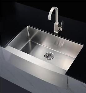 Butler Belfast Sink Single Bowl Brushed Stainless Steel Satin LARGE Sink - 2320F   eBay
