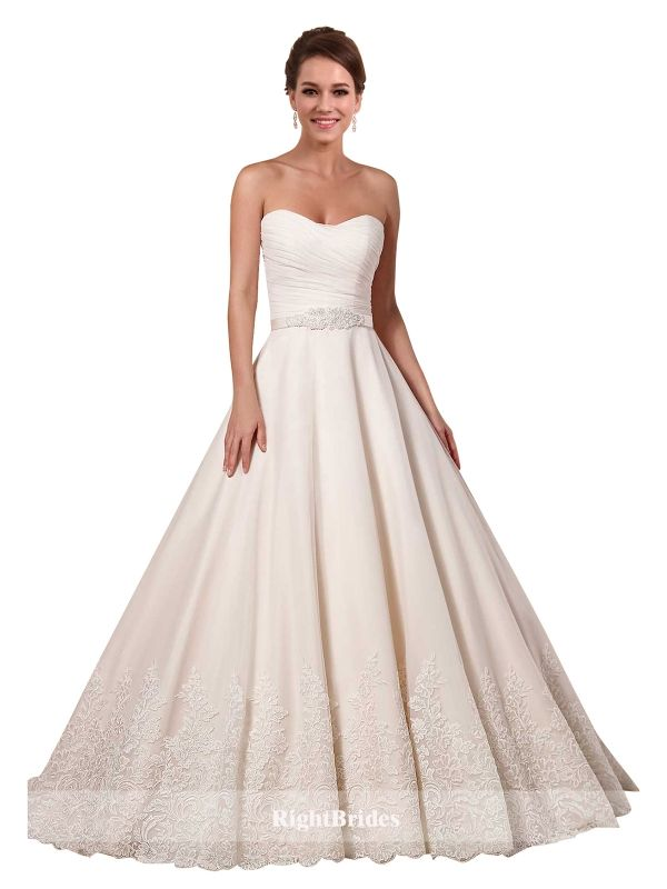 Cheap Right Gowns 2018 Summer Trends Ball Gown Sweetheart Sleeveless