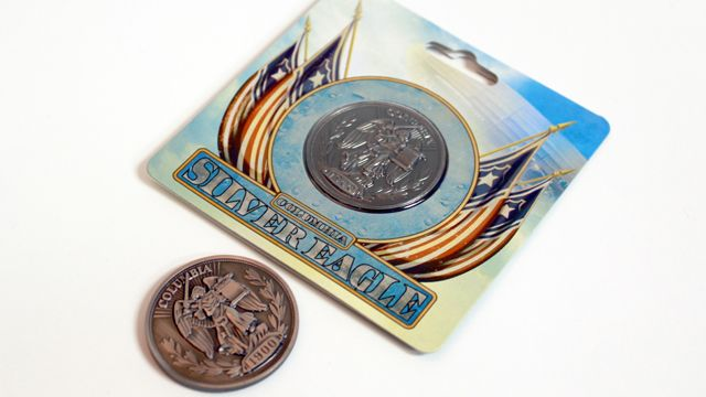 "BioShock Infinite Silver Eagle Coin via the Irrational Games Store. ""Booker, Catch!"""
