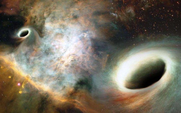 Dans le catalogue des radioastronomes, 0402+379 est une radiogalaxie qui semble posséder deux cœurs. Ce sont deux trous noirs supermassifs et les observations semblent bien montrer qu'ils sont en...
