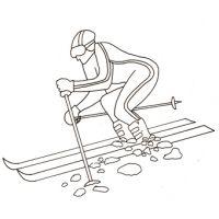 Coloriage sur les jeux olympiques d'hiver