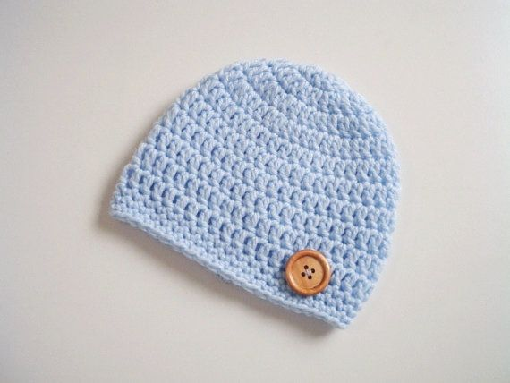 Boy newborn Hats-Crochet baby Hat-Baby Boy by prettyobject on Etsy