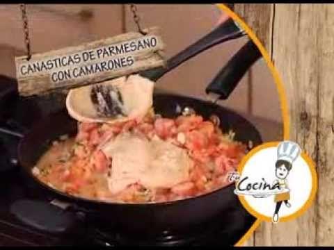 """Canasticas de Parmesano con Camarones, en Tu Cocina """"Ricas Recetas"""" - Canal Cosmovision - YouTube"""