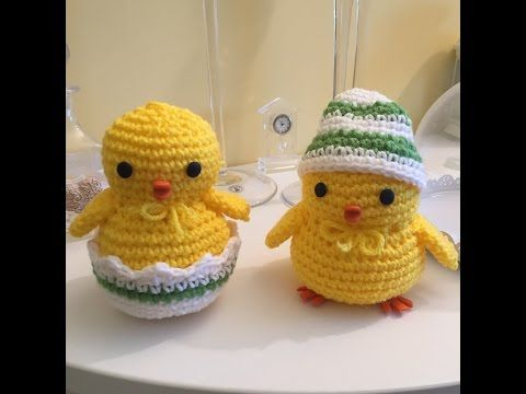 pulcino Amigurumi (tutorial-schema)/ how to crochet a chick Amigurumi - YouTube