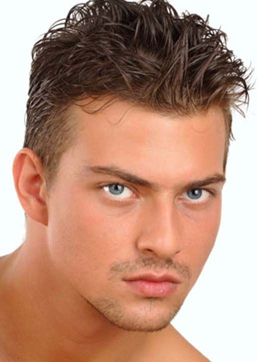Short Sides with Medium Gelled Top on Haircuts for Men
