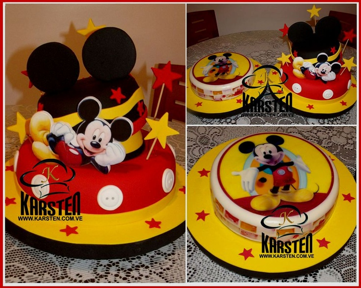 Mickey Mouse. Torta y GelatinaTortas De, Birthday, Mickey Mouse, Sebastian 1St, 1St Birthday, Cumpleaños Boys, Gelatin Jell-O