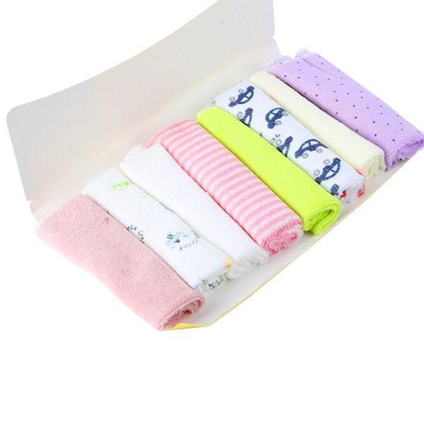 Младенцы дети вещи 8 шт. мягкий дети младенческой банное полотенце хлопок протрите гим