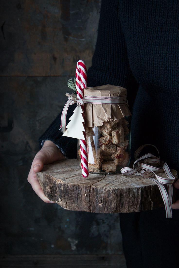 Biscotti morbidi con frutta secca,per un regalo di Natale home made.