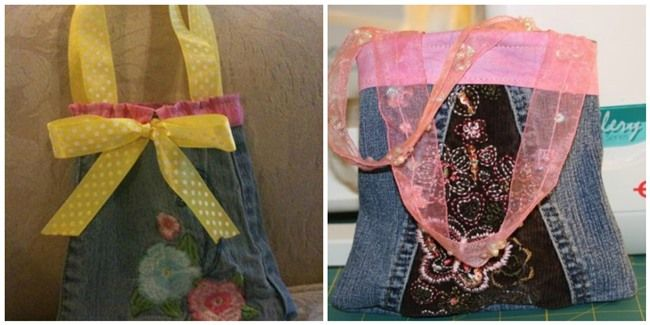 Purses Made from Denim Jeans