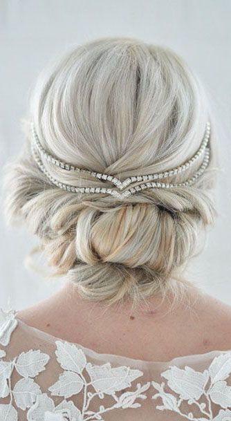 Hair Jewelry Wedding Head Chain Unique Bridal Headpiece Draped