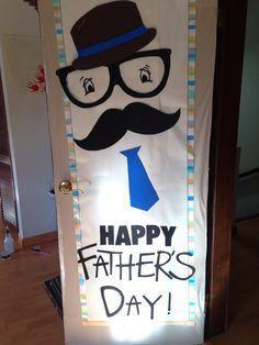 Decoración de puerta de preescolar para el día del padre Happy Father's Day