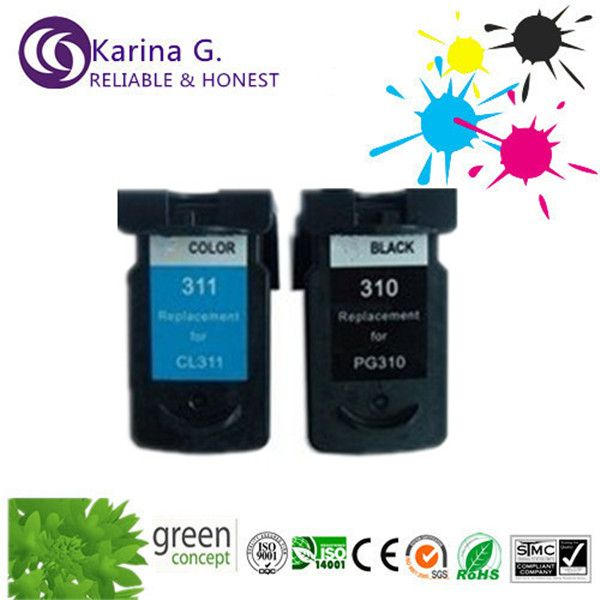 Re-manufacteud Inkjet Cartridge for Canon PG-310 CL-311 For IP1800 IP2500 MP210 MP220 MP470 Printer Inkjet  Ink