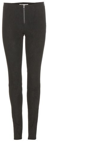 Alice + Olivia Stretch Suede Leggings