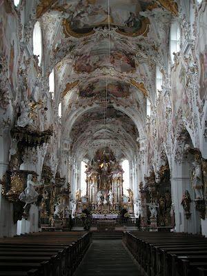 Catholic Church in Oberammergau, Germany.