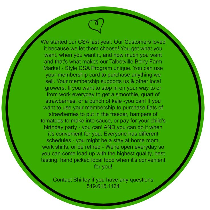 Why our customers love our CSA Program