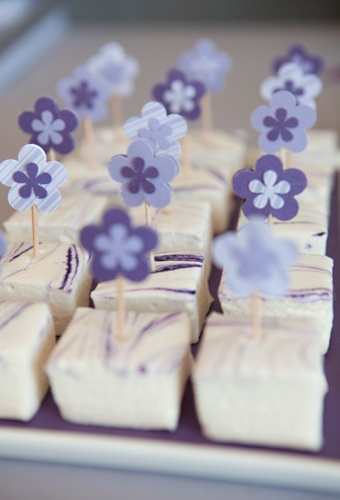 purple dessrt table close up by Shauna Younge dessert tables