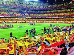 http://wallpapersoccer.tk/camp-nou-barcelona-catalonia-flag-mosaic-wallpaper.html Camp Nou Barcelona Catalonia Flag Mosaic Wallpaper : Footbal Player Photos