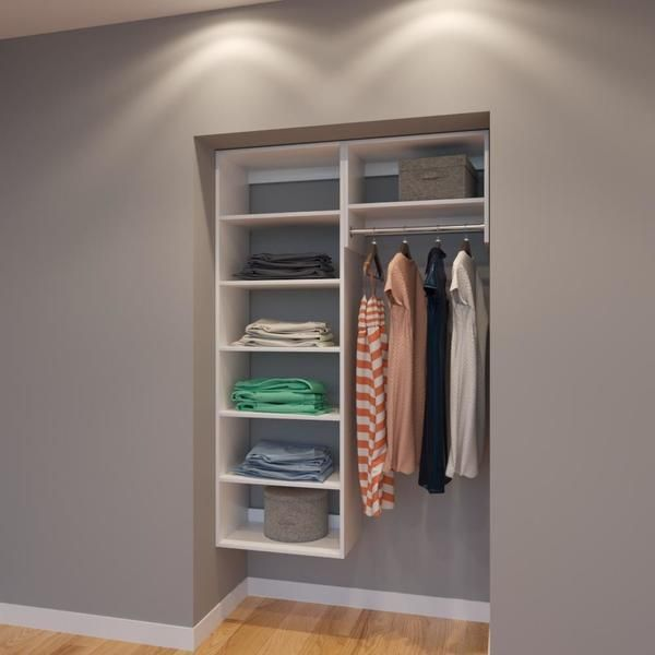 Modular Closets 4 Ft Closet Organizer System 48 Inch Style E This Is A Great Blend Of Shelving And Hanging No Need For Dresser When Your