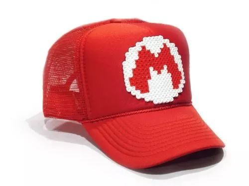 #gorras de #pixeles retro mario bros ghostbusters tron pacman #geek #mercadolibre