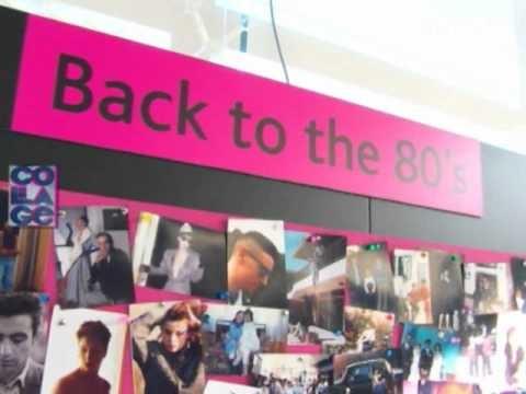 """Nota para el programa Collage de Vía X, acerca de la segunda parte de la exposición """"Volver a los 80"""", en el Museo de la Moda. Por Daniela Valdés, mayo 2011."""