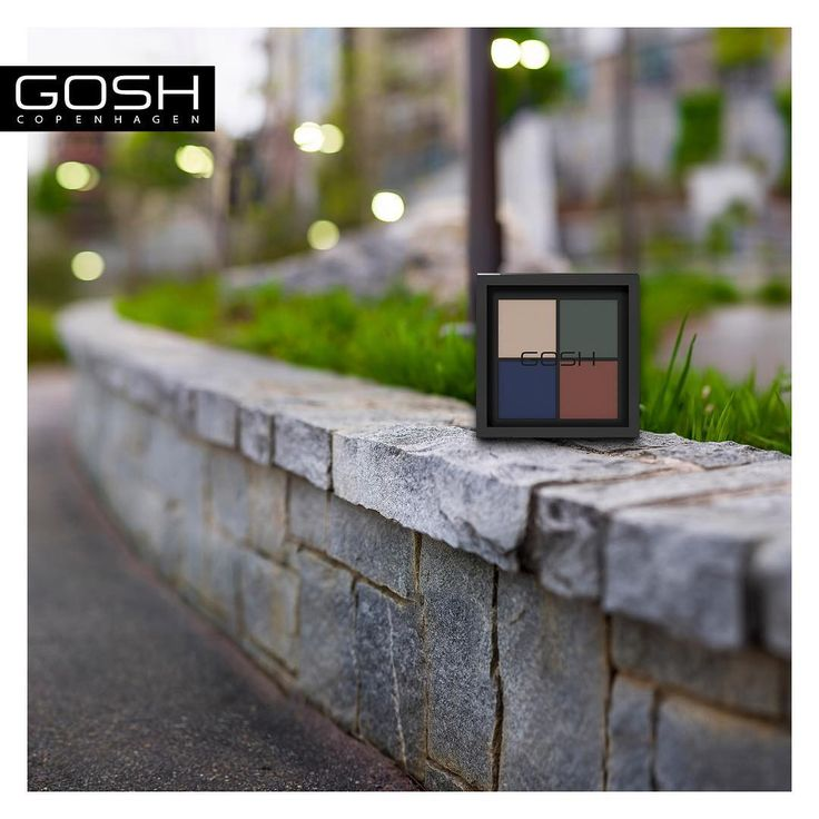 Our newest Eye Xpression in its true habitat, - Urban Nature…#GOSHCOPENHAGEN #BEAUTIFULYOU #MAKEYOURIMPRESSION #SS17 #NEW #URBANNATURE #EYESHADOW