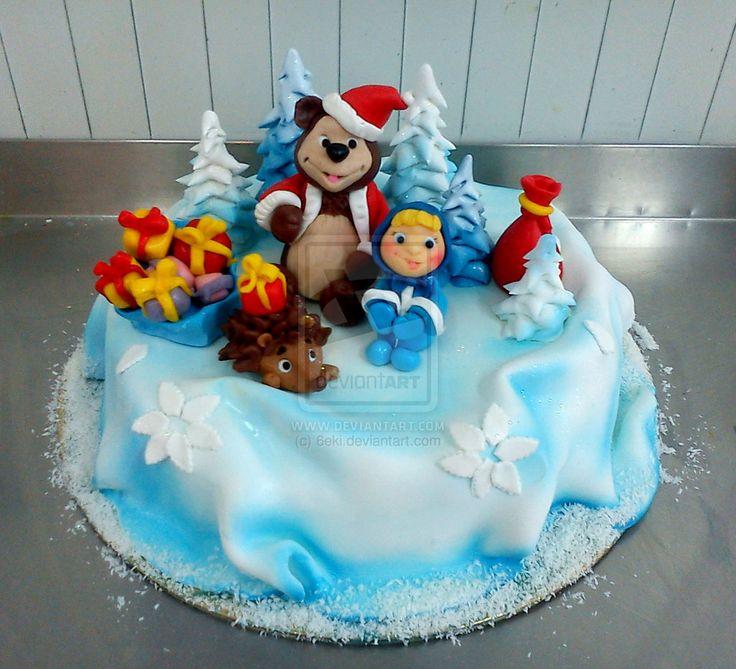 Masha and the bear Cake by 6eki on deviantART
