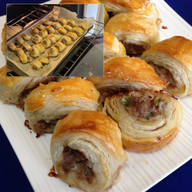 These sausage rolls are the perfect appetizer. They smell wonderful when they are baking and taste delicious.