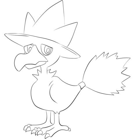 Click To See Printable Version Of Murkrow Coloring Page