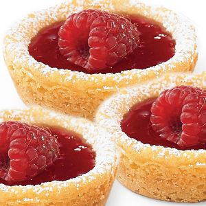 Mini Raspberry Cookie Tarts - Low Calorie Treat -
