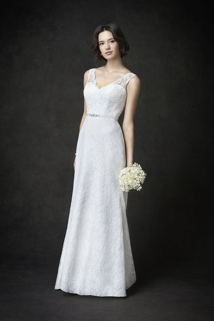 The dress gallery - Gallery Style Ga2275 Beautiful Lace Bridal Gown With Illusion Lace V Back Romantic