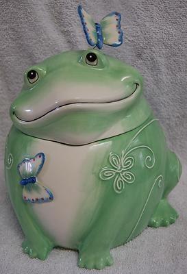 *FITZ FLOYD LIVING COLOR FROG ~  Cookie Jar