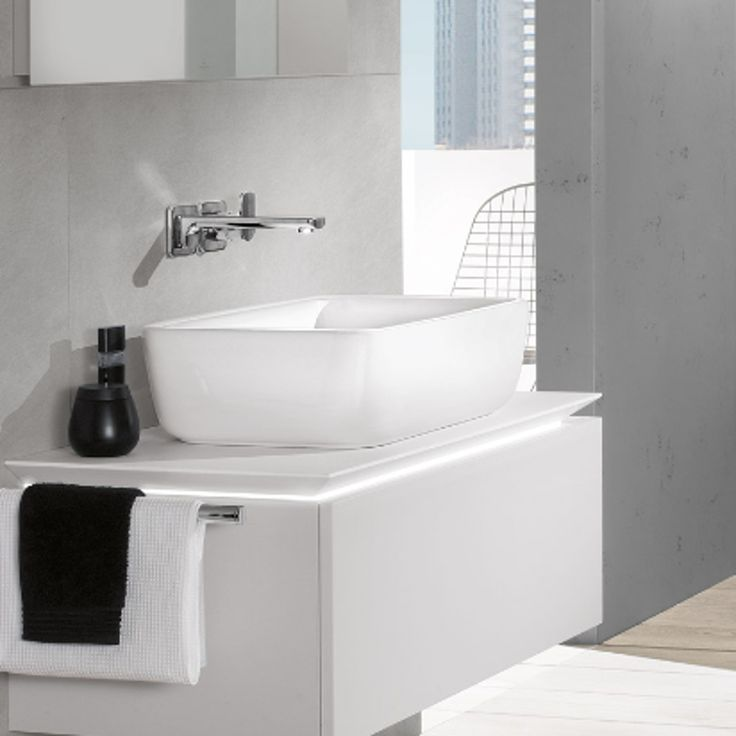V & B Architectura Rectangular Counter Wash Basin | A Bell | Bathrooms