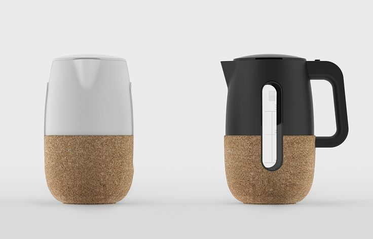 kitchen wares | ceramic & cork electric kettle in black #LGLimitlessDesign #Contest