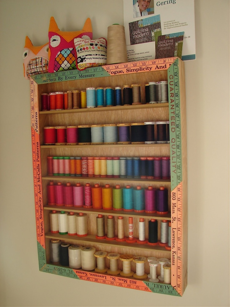 I love this little thread cabinet. It's adorable, and seems like it could be a DIY type project.