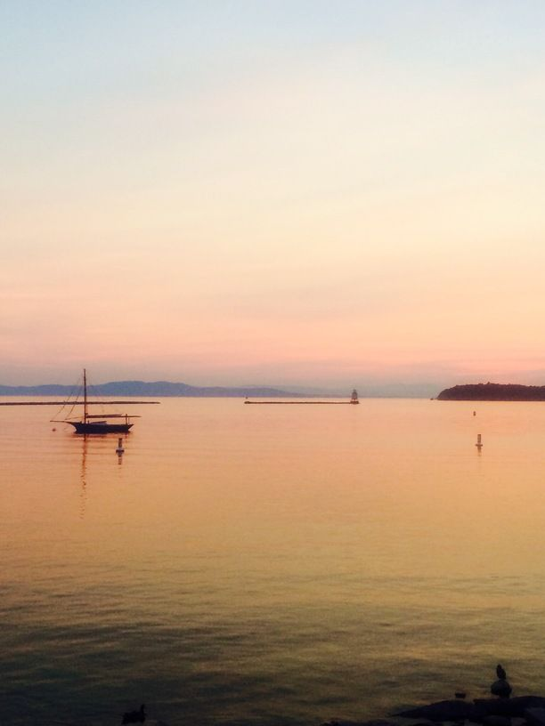 Waterfront Park, Burlington, Vermont — by WeLovetoExplore.com. Waterfront Park in Burlington, VT USA at sunset. Looking across Lake Champlain to New York State. We live steps from...