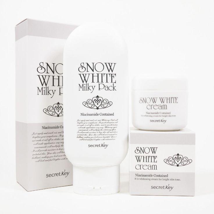 [secret Key] Snow White Milky Pack 200g + Snow White Cream 50g  Lightening  #secretKey