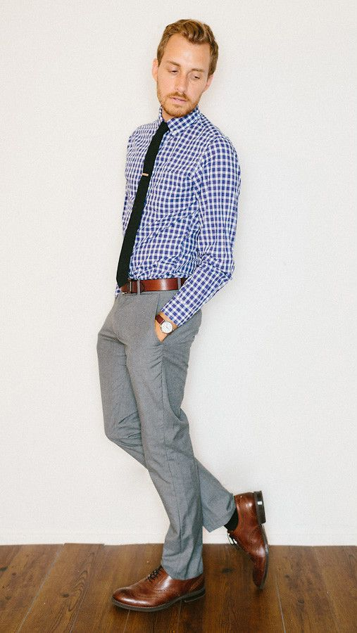 A great combination. | Grey pants outfit, Mens outfits
