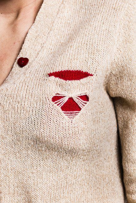 Silvia Amorosino knitwear designer | pointelle detail