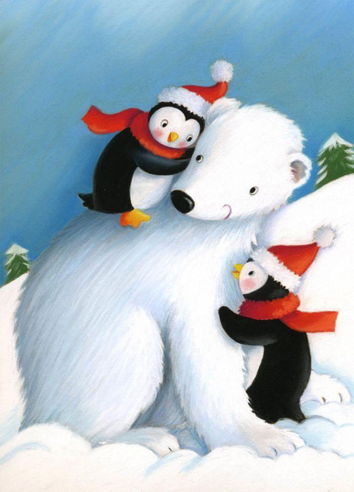 Pauline Siewert - polar bear and penguins