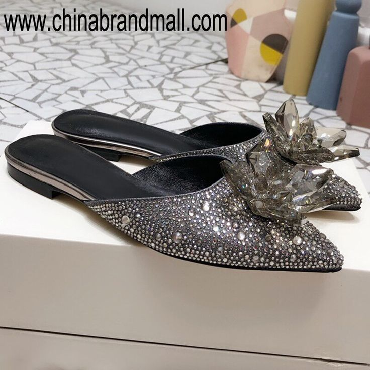 Designer Shoes Women Luxury Slippers 2019 High Quality Summer Bling Slippers Closed Toe
