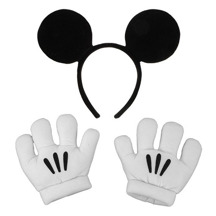 Disney Mickey Mouse Ears and Gloves Set - Kids, Kids Unisex, Multicolor