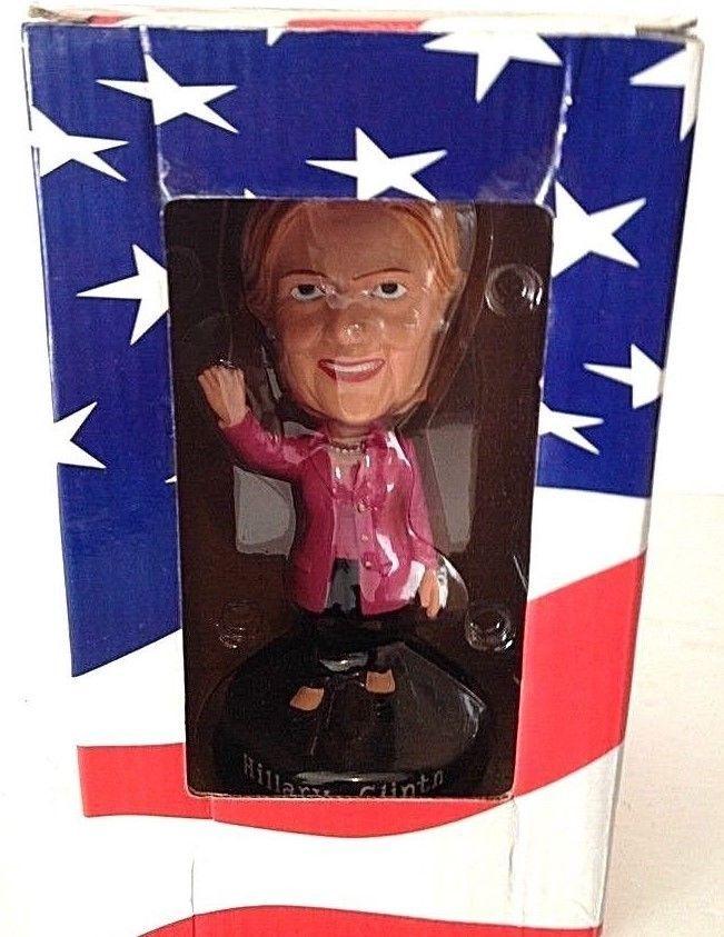 Hillary Clinton Bobblehead in Pink Pantsuit on Pedestal #JOHNSONSMITH